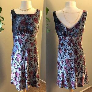 Nanette Lepore Vintage Floral Velvet Dress